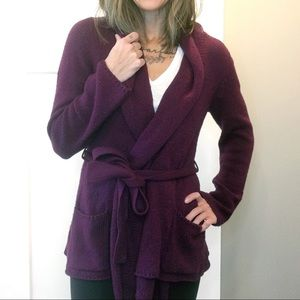 Anthro | Sparrow - Wool Blend Belted Long Cardigan